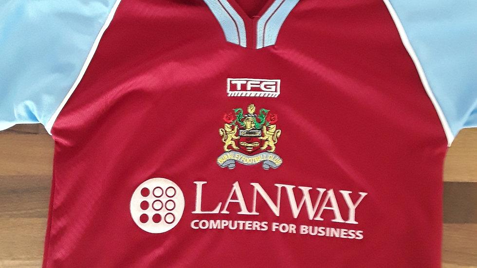 Vintage Burnley FC Shirt 2002. SB
