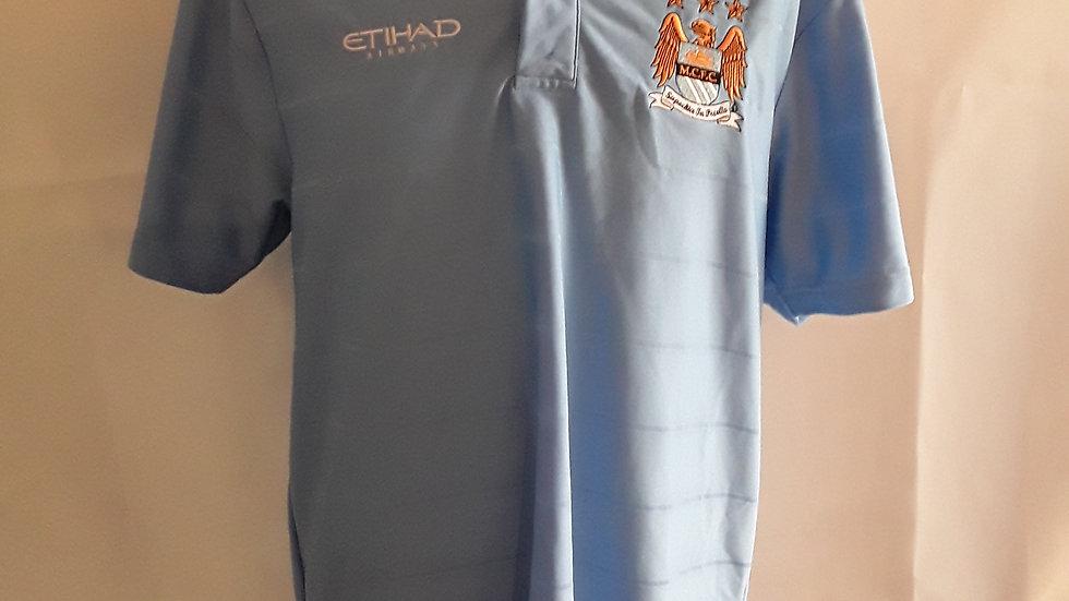 Manchester City Polo Shirt Medium
