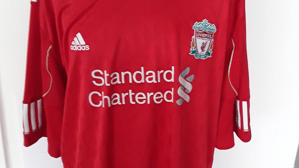 2010 Liverpool Home shirt.