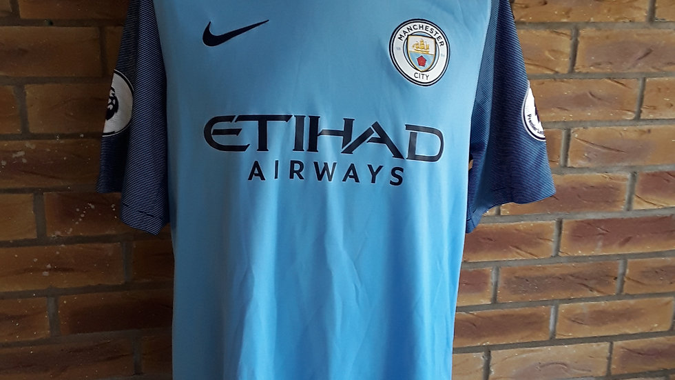 Manchester City Home Shirt Large Mens