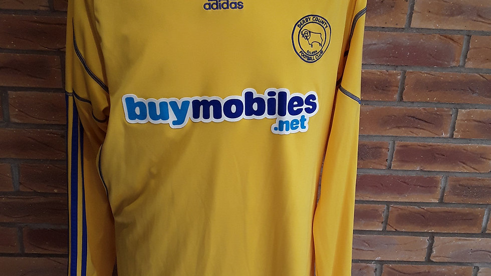 Derby County Away Shirt 2010 L/S