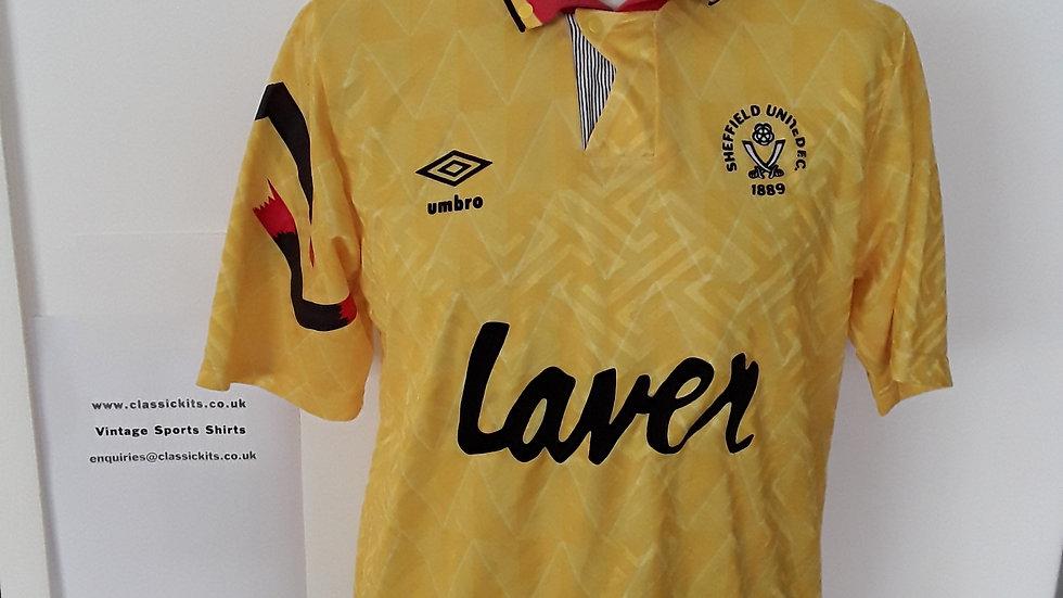Sheffield United Away Shirt Original 1991. S