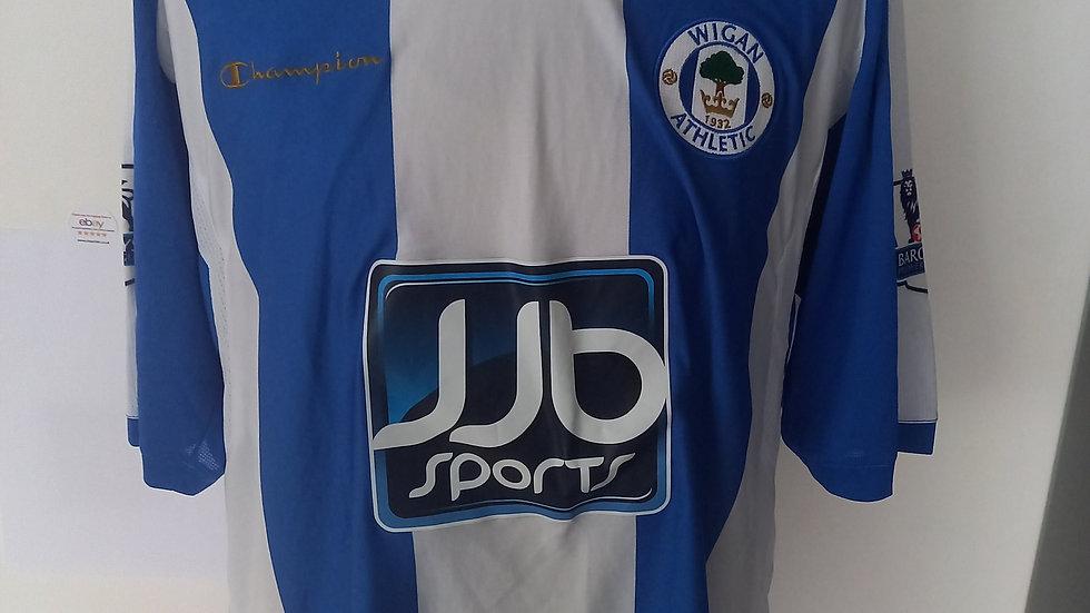 Match Worn Wigan Athletic Shirt XXL