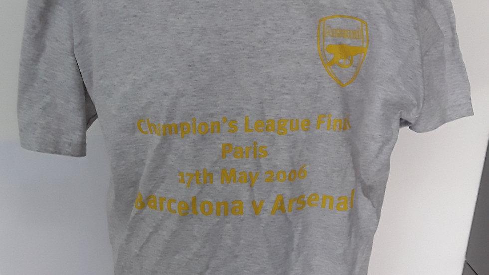 Arsenal T Shirt Champions League Final 2006.