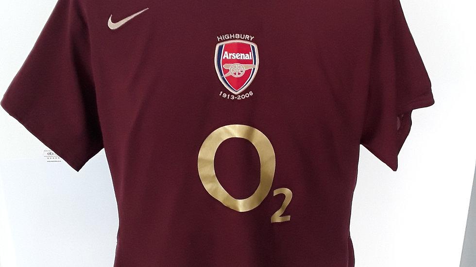 Arsenal home shirt 2006. Ladies 14/16