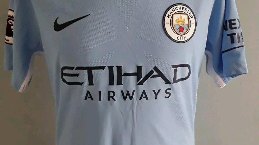 Player Issue Manchester City Shirt Mangala 15