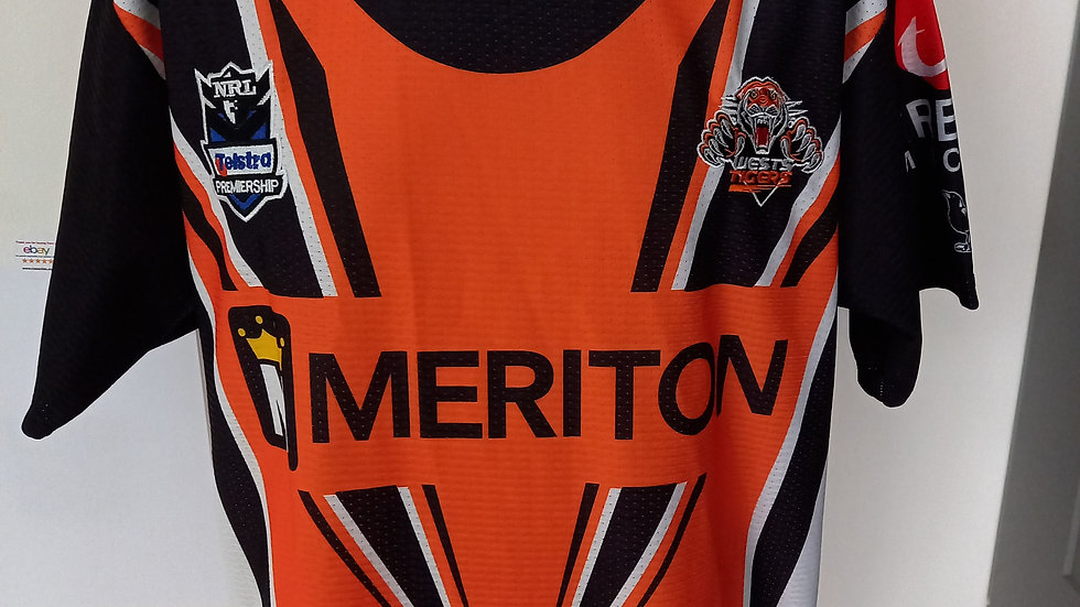 Wests Tigers Rugby League Shirt Large