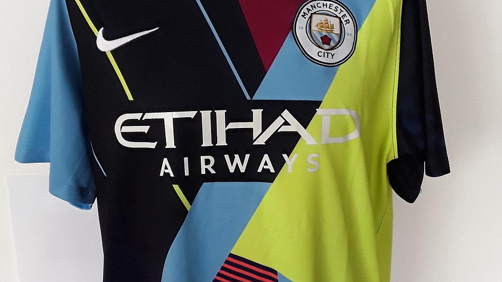 Manchester City Mash Up Shirt. XL