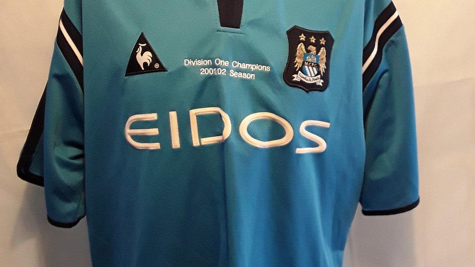 Manchester City Champions 2001/02 Shirt