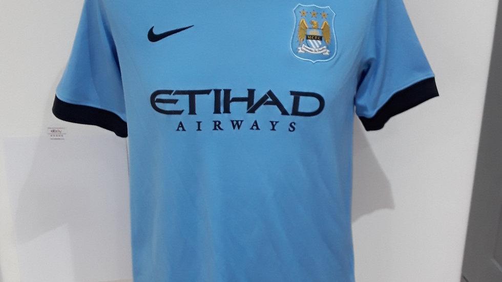 Manchester City Home Shirt 2014.