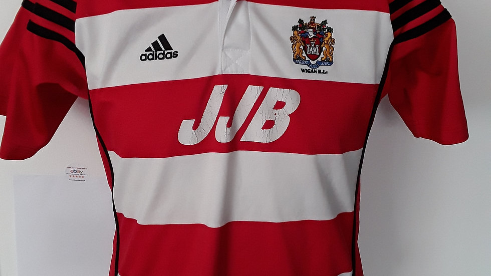 Vintage Wigan Warriors Rugby League Shirt 2001 LB