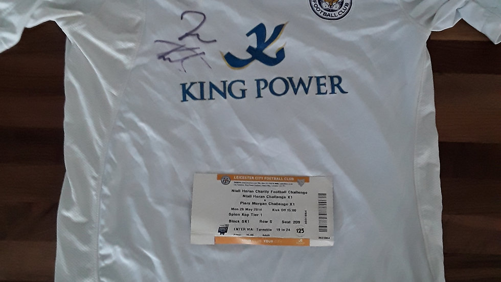 Leicester City Away Shirt Signed Charity Match