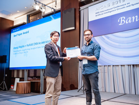 Best Paper Award at the IEEE Conference on Artificial Intelligence Circuits and Systems 2019
