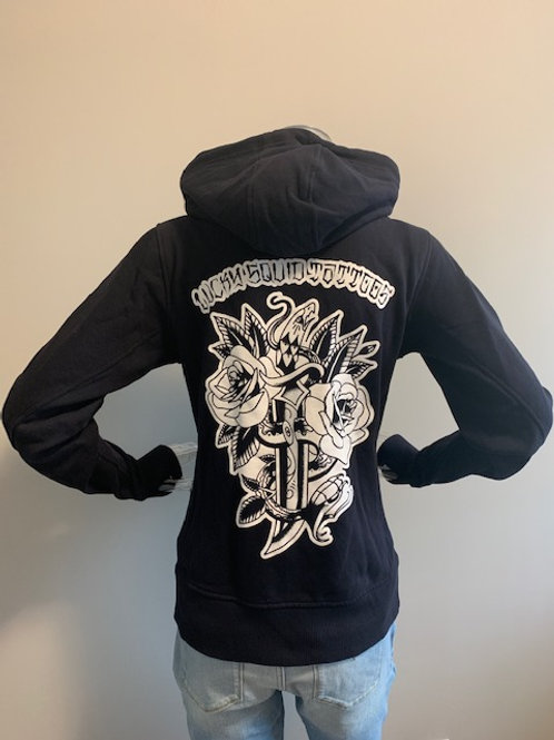 "Woman's Hoodie ""Snake And Dagger"""
