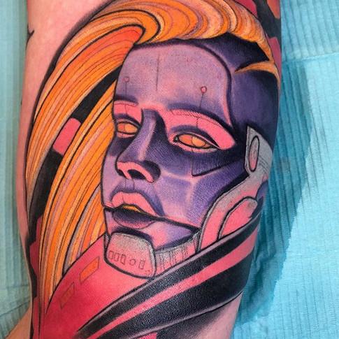 Neo Traditional Cyberpunk Tattoo