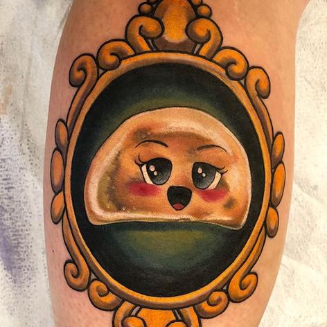 Neo Traditional Pierogi Tattoo