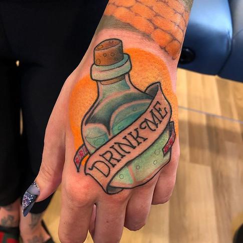 Colour Alice In Wonderland Tattoo