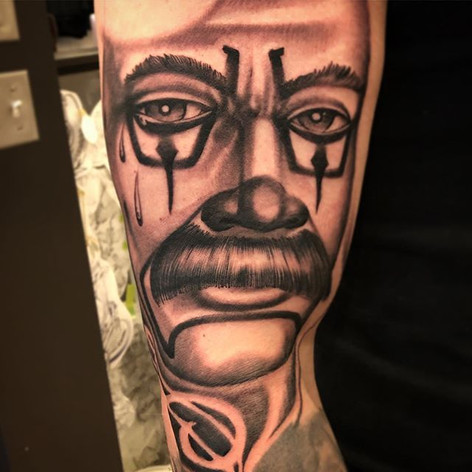 Black and Grey Cry Later Tattoo