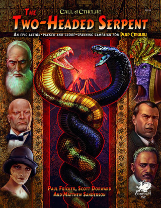Rollenspelsupplementbespreking: Call of Cthulhu - Pulp Cthulhu - The Two-Headed Serpent