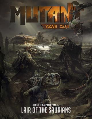 Rollenspelsupplementbespreking - Mutant: Year Zero - Zone Compendium 1: Lair of the Saurians