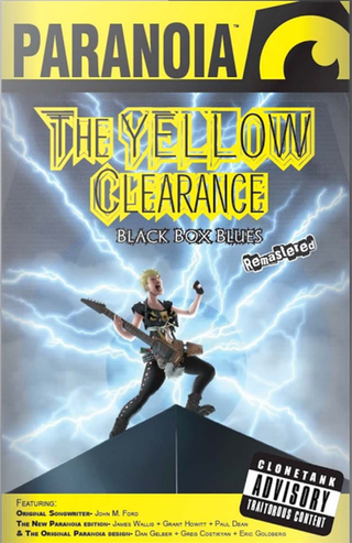 Tabletop rollenspelavontuurbespreking: Paranoia - The Yellow Clearance Black Box Blues Remastered