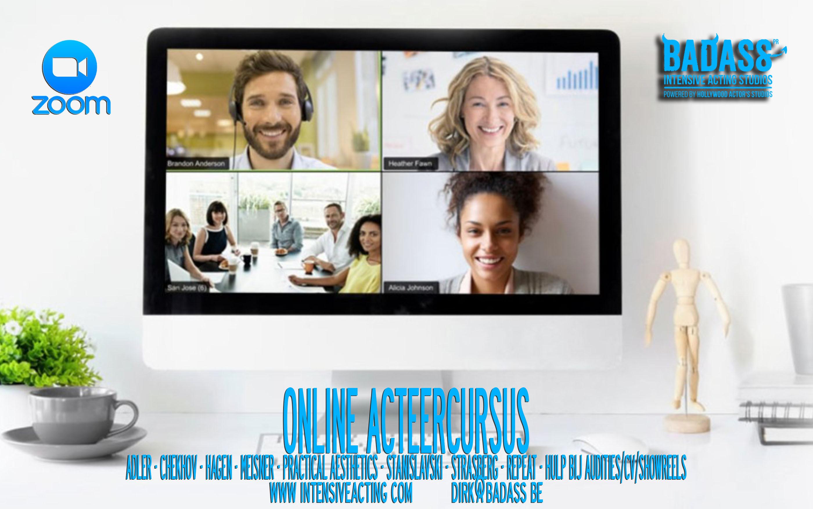 Online acteerles - 20 lessen van 2 uur