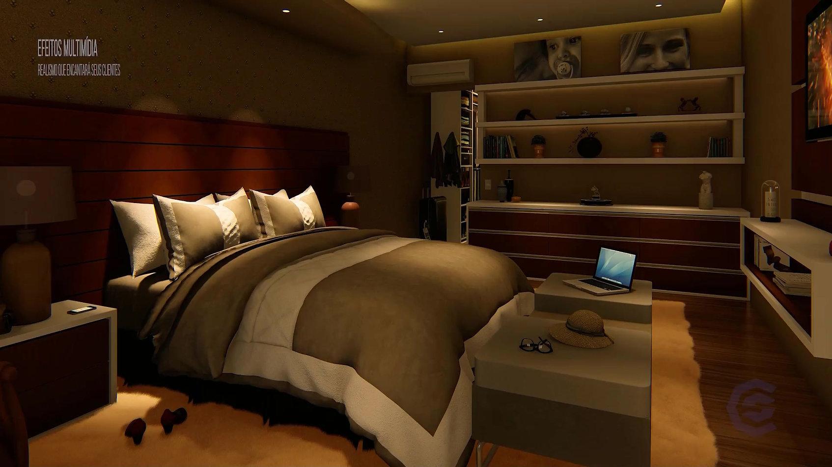 Exercício de animação interna dormitório.