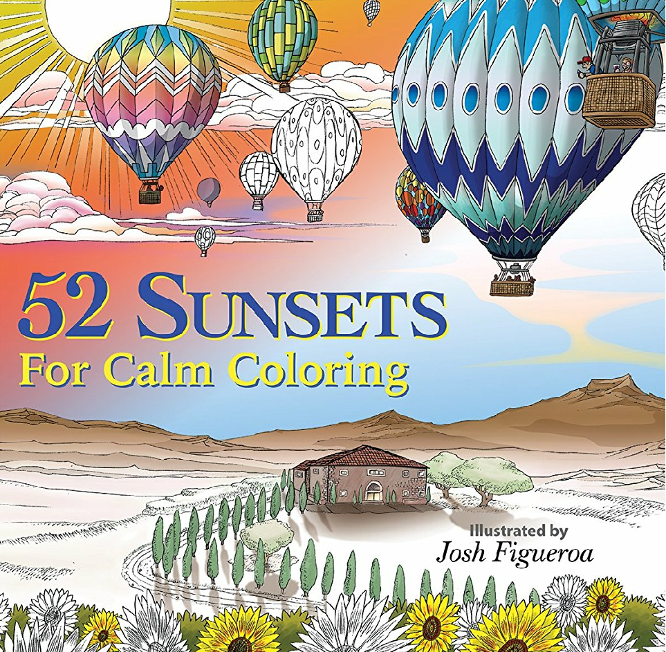52 Sunsets For Calm Coloring cover