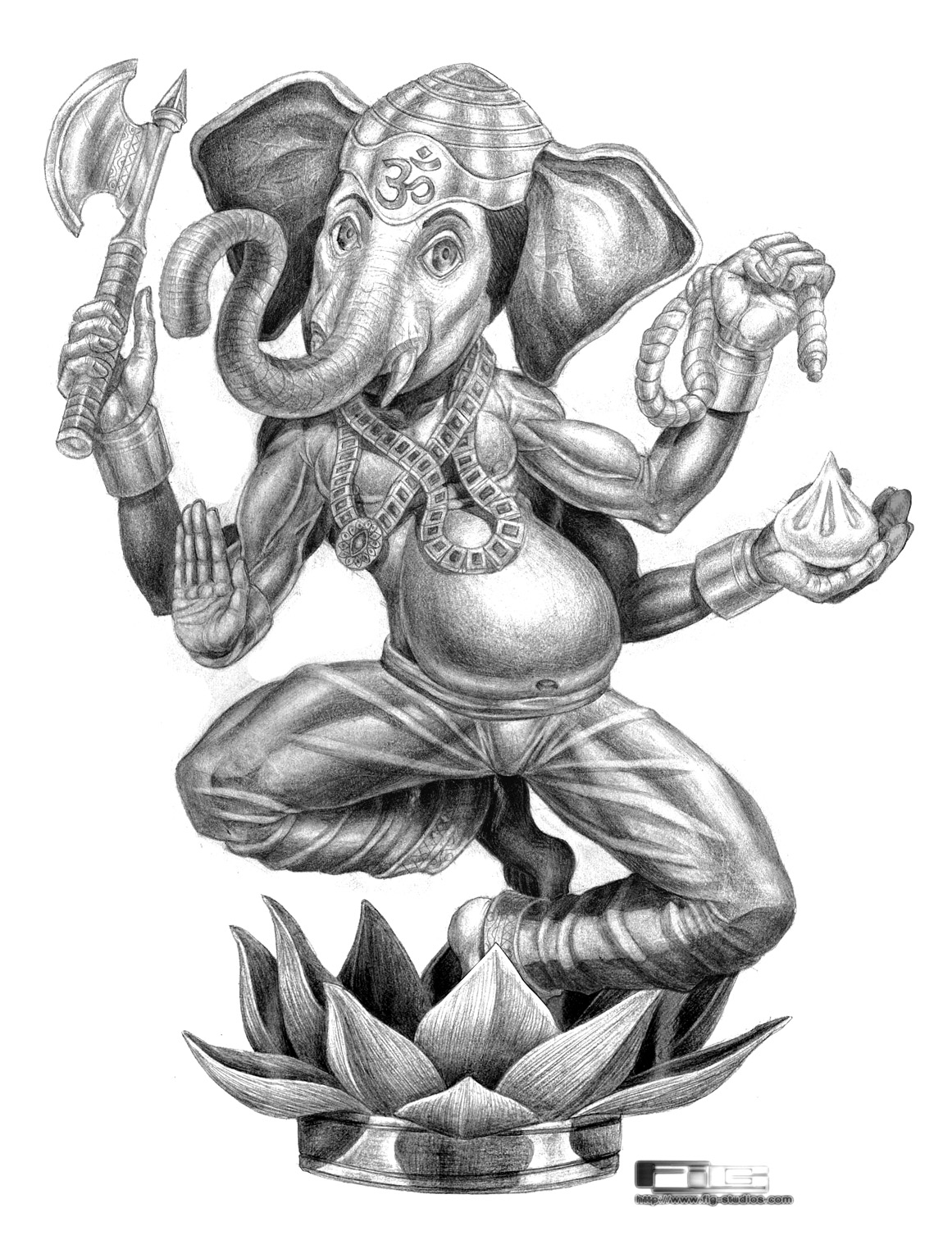 Chapter Illustration Ganesh (pencil)