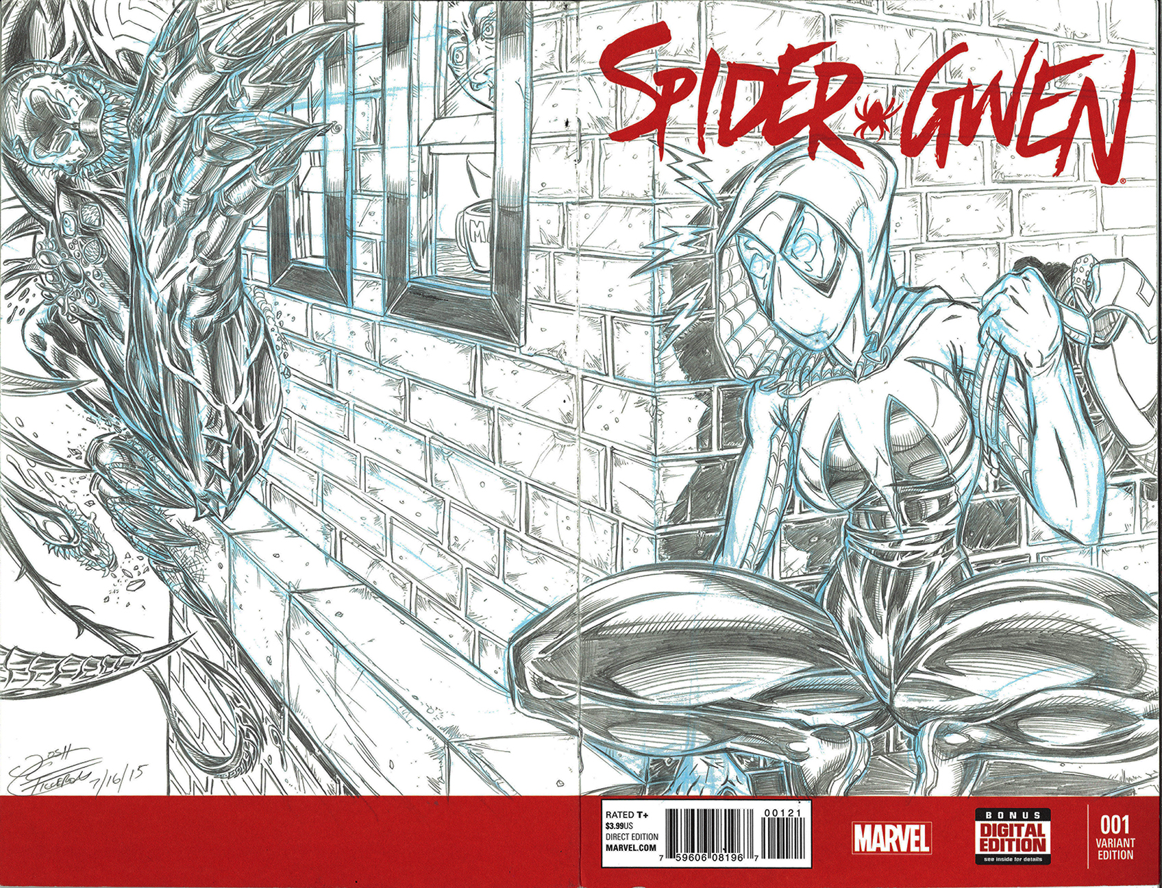 SpiderGwen Sketch Cover