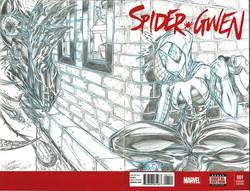 SpiderGwen Sketch Cover