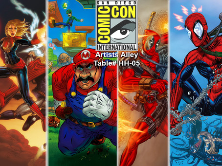 San Diego Comic Con 2014 - Artists Alley table#: HH-05