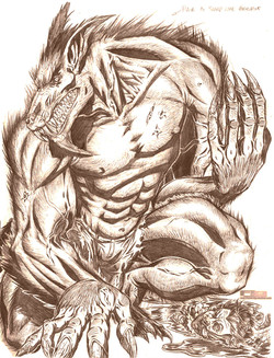 Werewolf design - WW2 comic