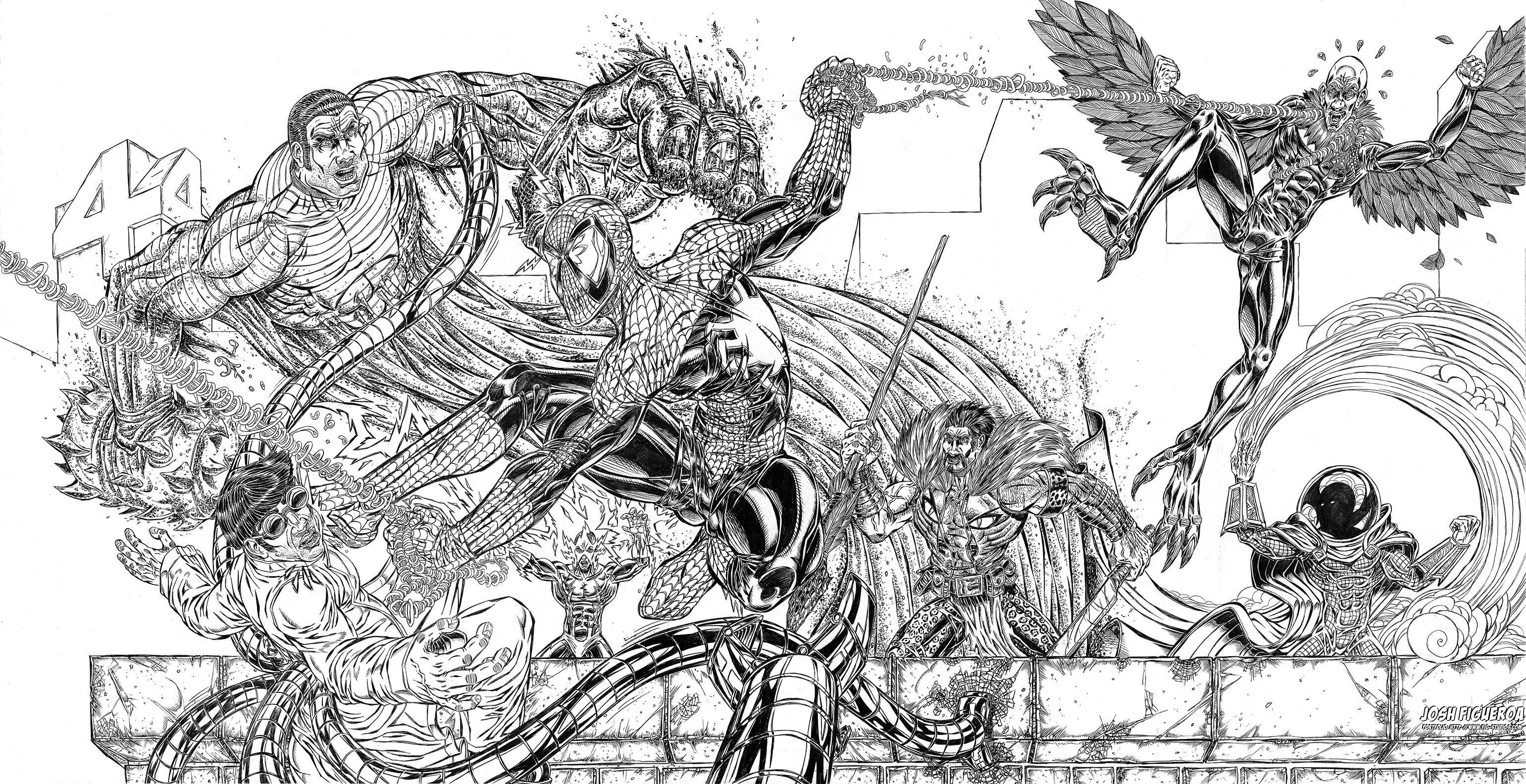 Spiderman Vs Sinister Six