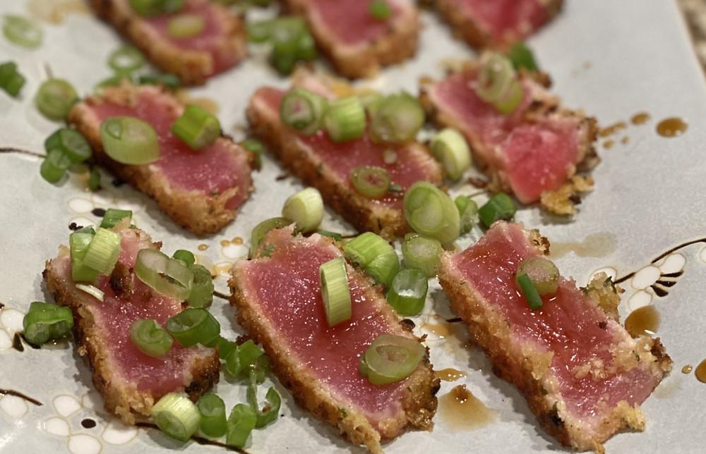 Healthy crispy seared tuna