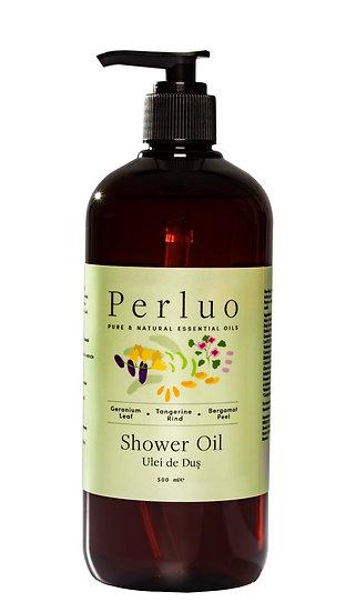 Shower Oil - Geranium, Bergamot & Tangerine