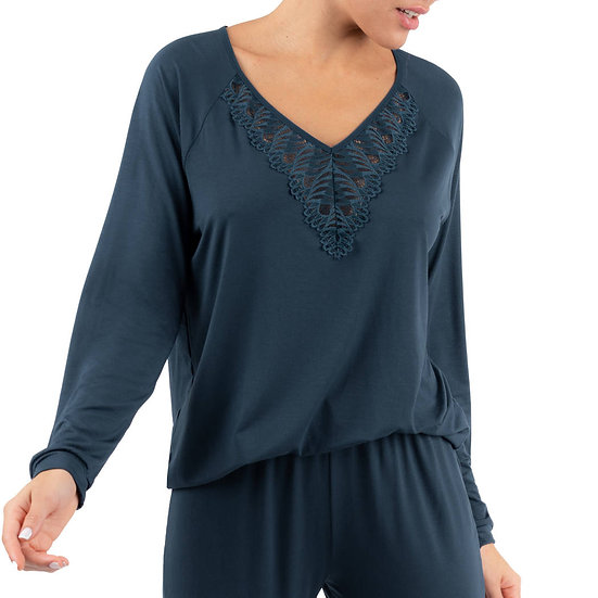 Onde Graphic top manches longues - ANTIGEL