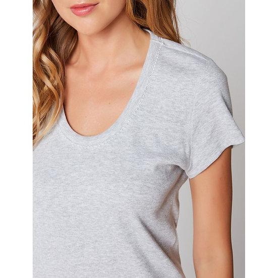 Tee-shirt à manches courtes en coton ESSENTIEL 131 Gris - LE CHAT