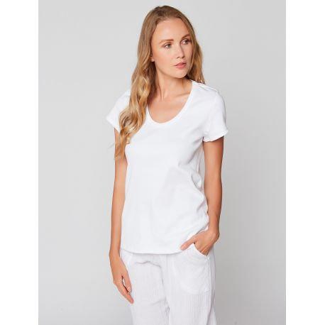 Tee-shirt à manches courtes en coton ESSENTIEL 131 Blanc - LE CHAT