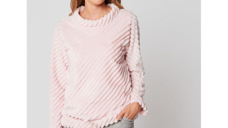 Sweatshirt en fourrure ESSENTIEL 930 Bois de rose -LE CHAT
