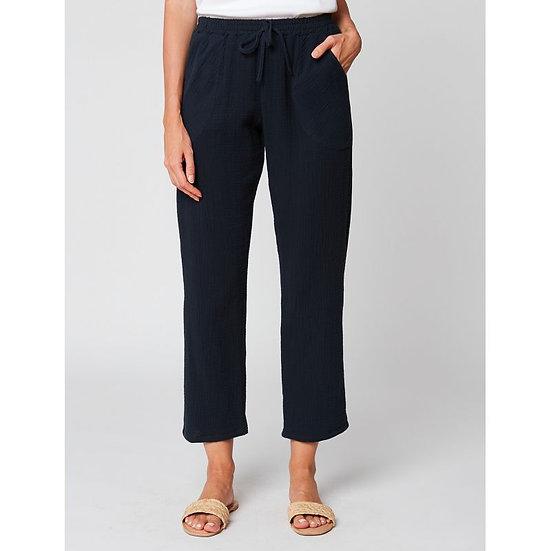 Pantalon en gaze de coton HYDRA 180 Marine - LE CHAT