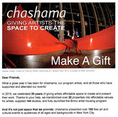 Chashama, New York City