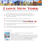 I Love New York, flyer USA