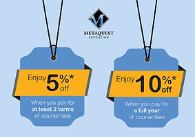 Discount for multi-term enrolment for MetaQuest's Science Enrichment and Tuition Programme