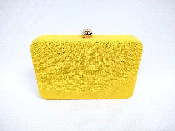 Clutch Amarela tecido