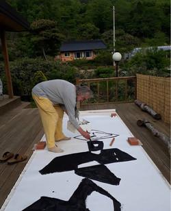 Werner Sasse at his studio