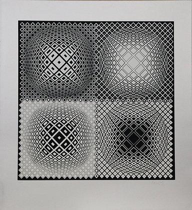 Sann (Black on Silver) (Print)