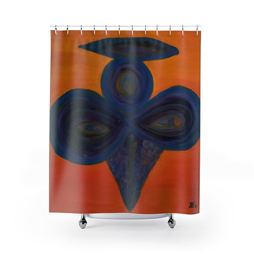 The Shadow Angel - Shower Curtains