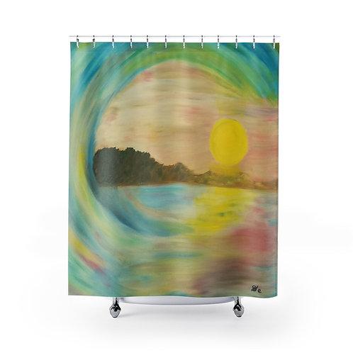Sunset Wave - Shower Curtains