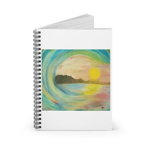 Sunset Wave - Spiral Notebook - Ruled Line